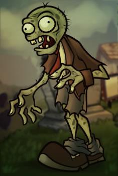 Оригинальный цветной рисунок зомби из игры